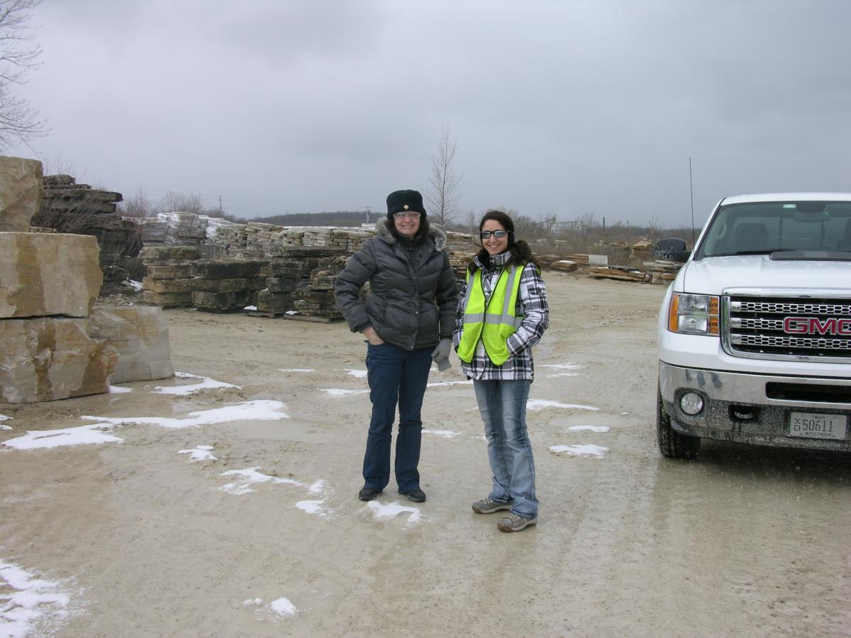 Brandi & Angelina at the Eden Stone quarry