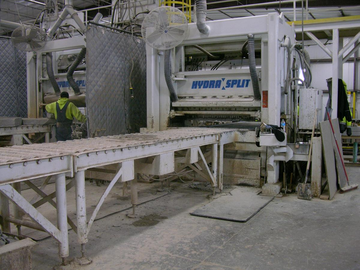 Processing equipment at the quarry